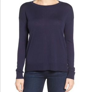 Seam front sweater